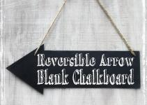 Reversible Chalkboard Arrow Diy Wedding Sign Sparkleandposy