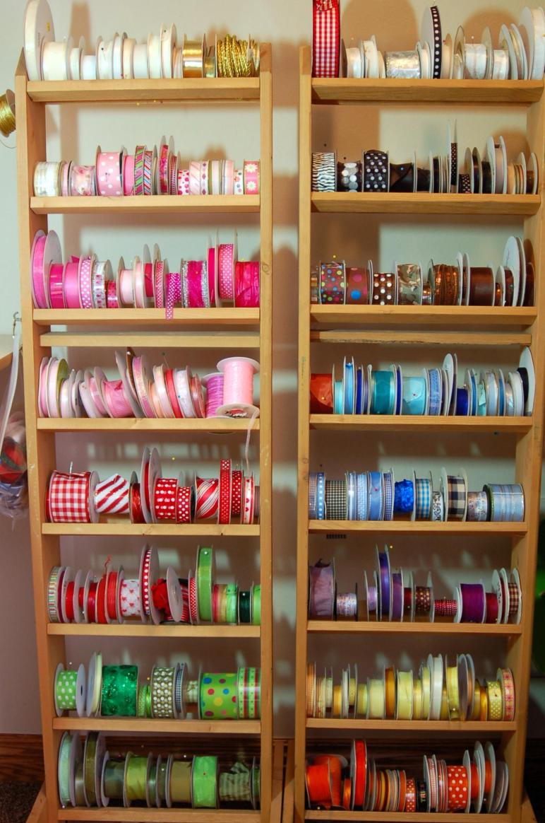 Ribbon Storage Closet Pink Polka Dot Creations