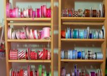 Ribbon Storage Closet Pink Polka Dot Creations