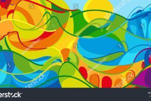 Rio 2016 Abstract Colorful Stock Vector