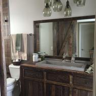 Robbie Rustic Reclaimed Wood Bathroom Vanity Fama