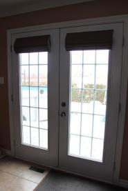 Roman Shade French Door Window Treatments Design Ideas