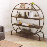 Round Floating Shelves 4040 Locust Wooden Circle Wall