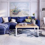 Royal Blue Sofa Interior Design Ideas