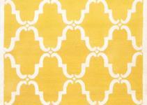 Rugsville Moroccan Tuscan Trellis Yellow Wool Rug