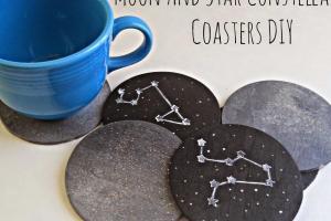 Running Glue Gun Moon Star Constellation