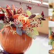 Rustic Fall Wedding Centerpieces