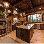Rustic Kitchen Stone Tile Limestone Truckee