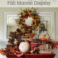 Rustic Meets Elegant Fall Mantel Display Anderson Grant