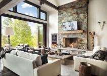 Rustic Modern Dwelling Nestled Northern Rocky Mountains