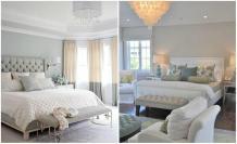 Rustic Modern Living Room Light Blue Beige Bedroom