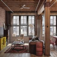 Rustic Table Ideas Industrial Loft Apartment Designs