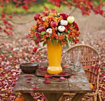 Rustic Thanksgiving Table Photos
