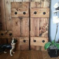 Rustic Wood Shutters Clavos Decorative