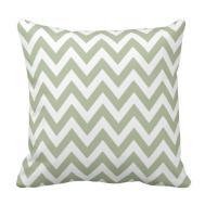 Sage Green Chevron Zigzag Pattern Throw Pillow Zazzle