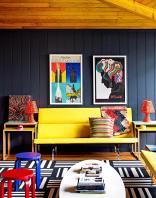 Salon Colore Mur Noir Picslovin