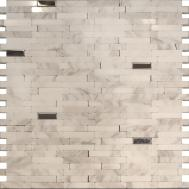 Sample Stainless Steel Carrara White Marble Stone Mosaic