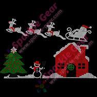 Santa Sleigh Snowman Christmas Tree Archives Sparkle