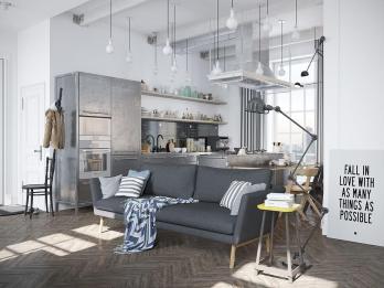 Scandinavian Apartment Industrial Elements