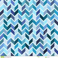 Seamless Geometric Pattern Blue Mosaic Royalty Stock