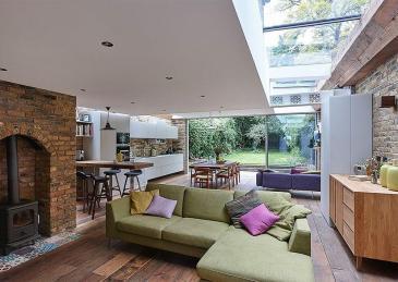 Semi Detached London Terrace House Gets Bright Modern