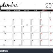 September 2018 Printable Calendar Planner Design Stock