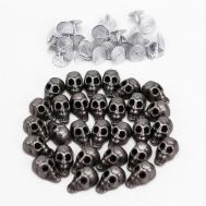 Sets Vintage Punk Premium Leather Craft Diy Skull Studs