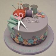 Sewing Needlework Cake Girls Birthday Cakes