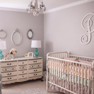 Shabby Chic Crib Bedding Baby Girl Nursery Floral