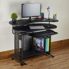 Shape Computer Desk Table Folding Corner Home Office