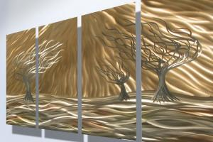 Shiny Trees Metal Arts Decosee