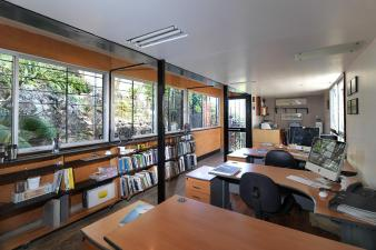 Shipping Container Office Cornerstone Architects