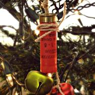 Shot Gun Shell Jingle Bell Ornament