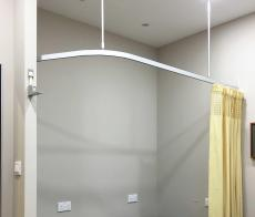 Shower Curtain Ceiling Track System Mounted