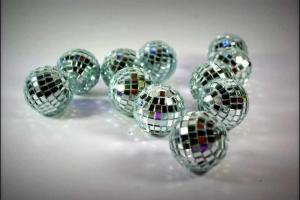 Silver Mini Disco Balls Idea Table Decorations Wedding