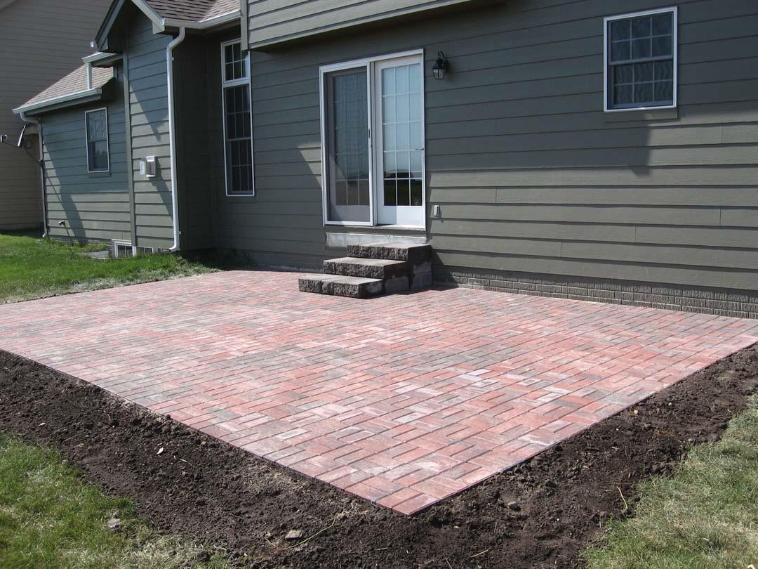 simple brick paver patio designs modern