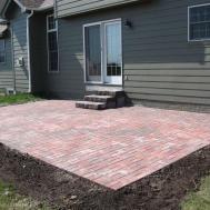 Simple Brick Paver Patio Designs Modern Outdoor