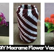 Simple Diy Tutorial Macrame Flower Vase