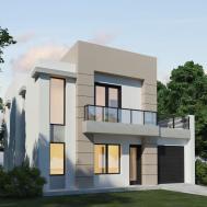 Simple Modern House Plane Design Exterior
