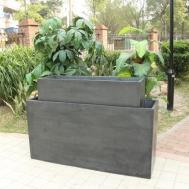 Simple Tall Rectangular Outdoor Planters Pcs Set
