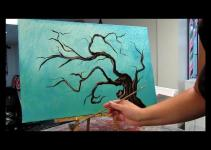 Simple Tree Branches Painting Imgkid