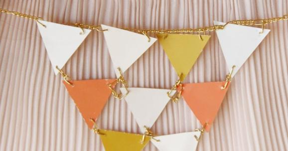 Sincerely Kinsey Golden Geometric Necklace