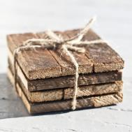 Sinceriously Yours Homemade Reclaimed Wood Coasters
