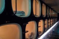 Sleeping Japanese Capsule Hotel