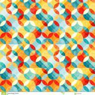 Small Bright Abstract Circles Seamless Pattern Vector