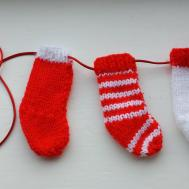 Small Knitted Christmas Stockings Chirstmas Ornament