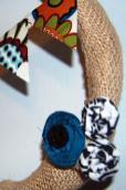 Smith Craft Adventures Fall Ish Fabric Burlap Wreath