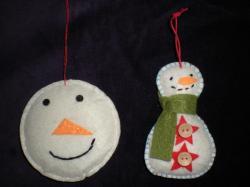 Snowman Hand Crafted Felt Xmas Tree Decoration Choose