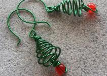 Softflexgirl Diy Holidays Christmas Tree Wire Earrings