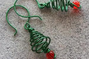 Softflexgirl Diy Holidays Christmas Tree Wire Earrings